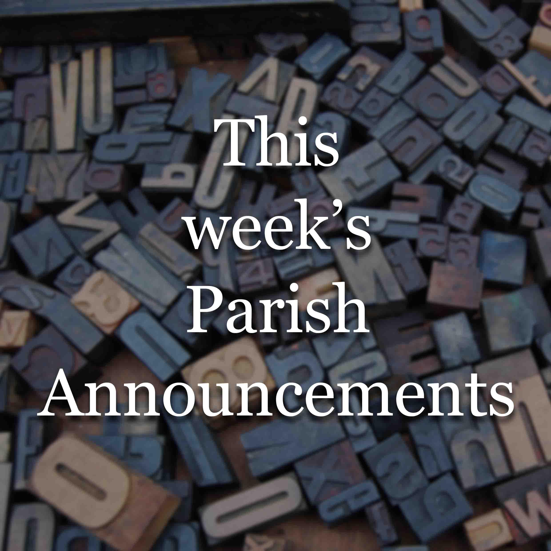 St. Mary's Parish Announcements