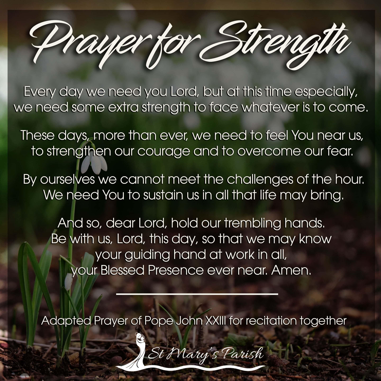 St. Mary's Parish Prayer for strength