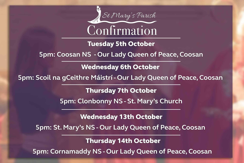 Confirmation St. Mary's Parish Athlone
