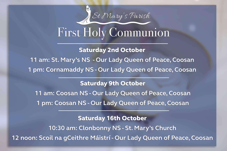 First Holy Communion St Mary's Parish Athlone